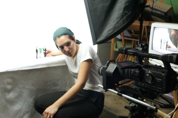 Angela Walley with camera, The Art Guys Marry A Plant
