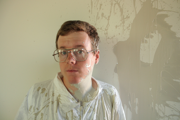 Jeremiah Teutsch during filming of Mono Painting