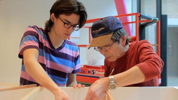 Jonathan Boyd and Yuichiro Kato at Rice Gallery
