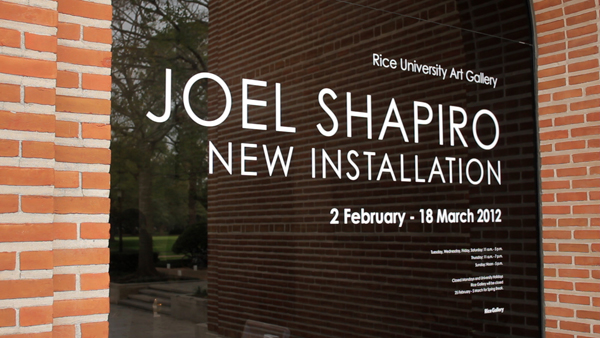 New Installation by Joel Shapiro at Rice Gallery