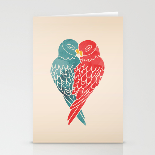 Love Birds Card by Mark and Angela Walley on Society6