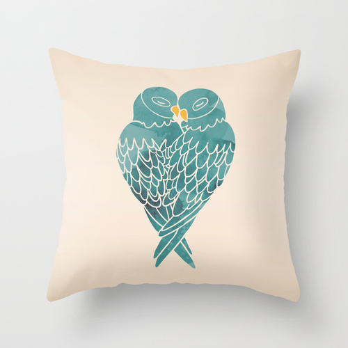 Love Birds Pillow by Mark and Angela Walley on Society6