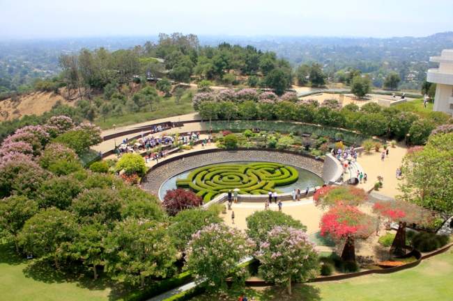 The Getty Central Gardens