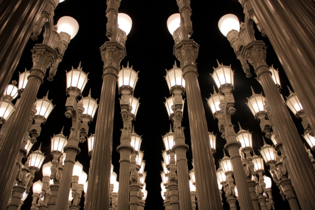 Urban Light by Chris Burden at LACMA