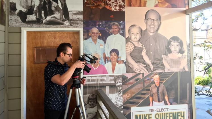 Walley Films Behind the Scenes filming A Manhattan Beach Memoir by Gary Sweeney